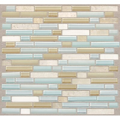 Treasure 12 x 13 Glass Gem Mosaic Tile in Blue Ice