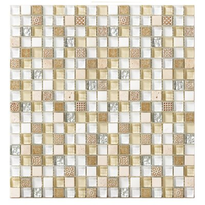 Treasure 12 x 12 Glass Gems Mosaic Tile in Blue Ice