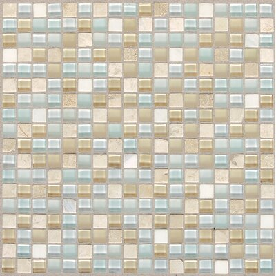 Treasure 12 x 12 Glass Mosaic Tile in Blue Ice