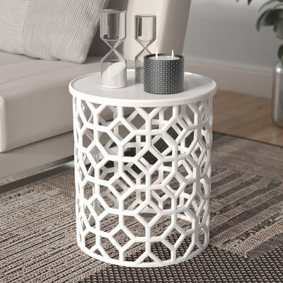 Depalma End Table Color: White