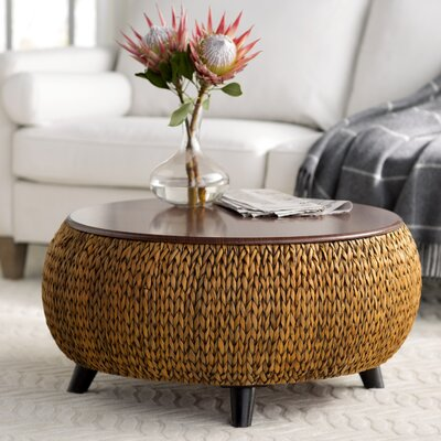 Dimitri Round Coffee Table Color: Gold