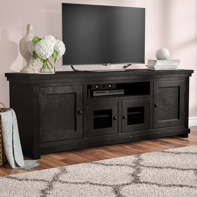 Willow 74 TV Stand Color: Distressed Black
