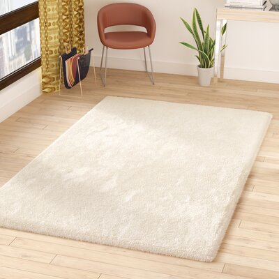 Surry Hand-Woven White Area Rug Rug Size: Rectangle 5 x 8