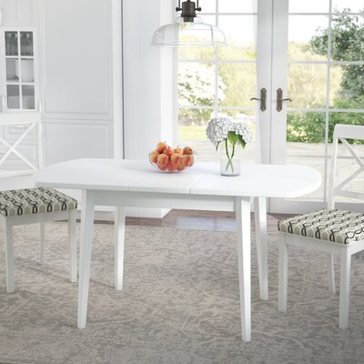 Liggett Extendable Solid Wood Dining Table Finish: White
