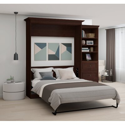 Burris Wall Murphy Bed with 3-Drawer Storage Unit Size: Queen