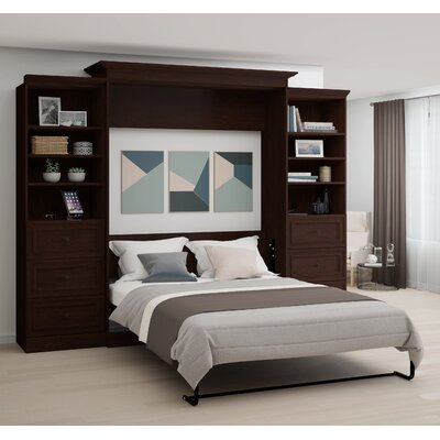 Burris Wall Murphy Bed with Two 3-Drawer Storage Unit Size: Queen