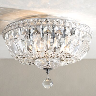 Baptiste 4-Light LED Flush Mount Size: 10 H x 14 W x 14 D