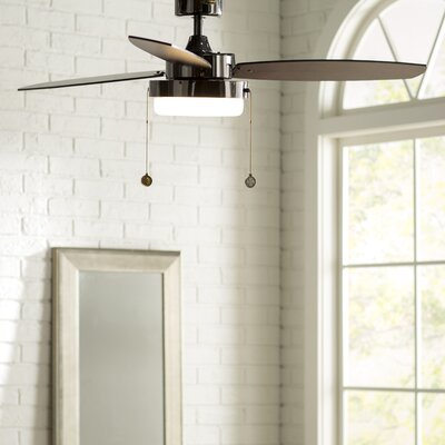52 Corsa 3 Blade Ceiling Fan Finish: Gun Metal with Black/Applewood Blades