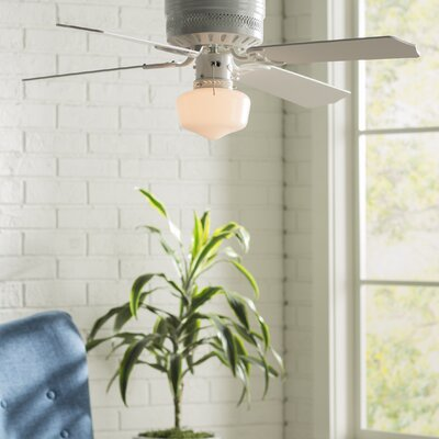 42 Walker 4 Blade Ceiling Fan Finish: White with White/White Washed Pine Blades