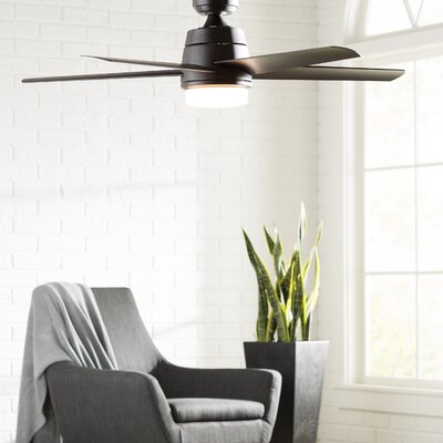 52 Orr 5-Blade Ceiling Fan with Light Kit Finish: Aged Bronze