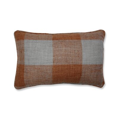 Donegore Indoor Check Please Koi Rectangular Lumbar Pillow Color: Orange
