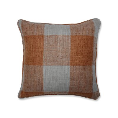 Donegore Indoor Check Please Koi Throw Pillow Color: Orange