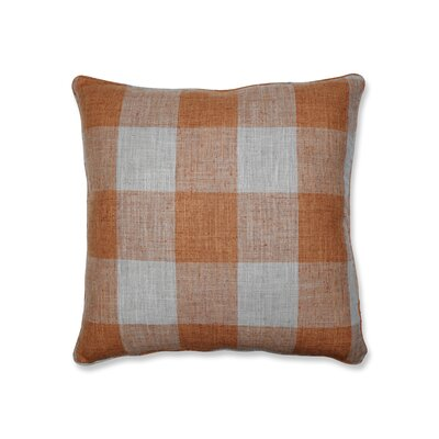 Donegore Indoor Check Please Koi Floor Pillow Color: Orange