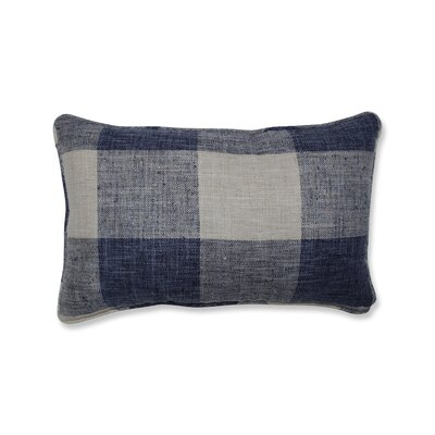 Donegore Indoor Check Please Koi Rectangular Lumbar Pillow Color: Blue