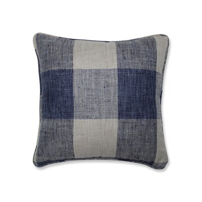 Donegore Indoor Check Please Koi Throw Pillow Color: Blue