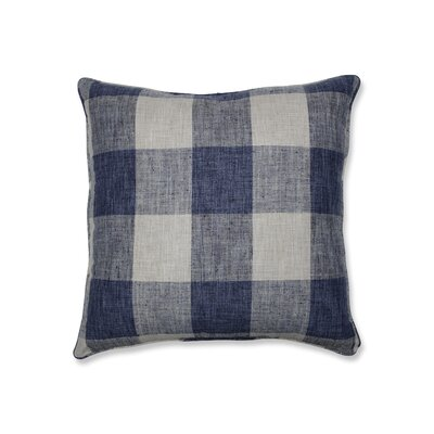 Donegore Indoor Check Please Koi Floor Pillow Color: Blue