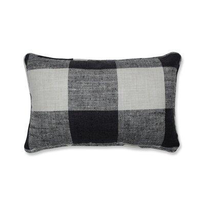 Donegore Indoor Check Please Koi Rectangular Lumbar Pillow Color: Black
