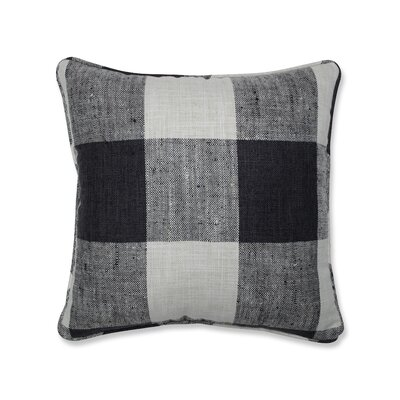 Donegore Indoor Check Please Koi Throw Pillow Color: Black