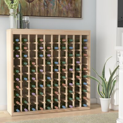 Karnes Pine Deluxe 100 Bottle Floor Wine Rack Finish: Natural