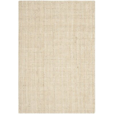 Muriel Hand-Woven Ivory Area Rug Rug Size: Rectangle 6 x 9