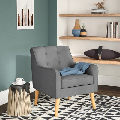 Serenity Armchair Upholstery: Charcoal