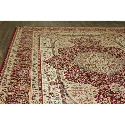 Boulevard Traditional Oriental Red/Beige Area Rug Rug Size: Rectangle 53 x 75