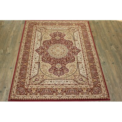 Boulevard Traditional Oriental Red/Beige Area Rug Rug Size: Rectangle 710 x 106