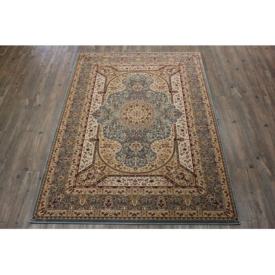 Boulevard Traditional Oriental Blue/Red Indoor Area Rug Rug Size: Rectangle 710 x 106