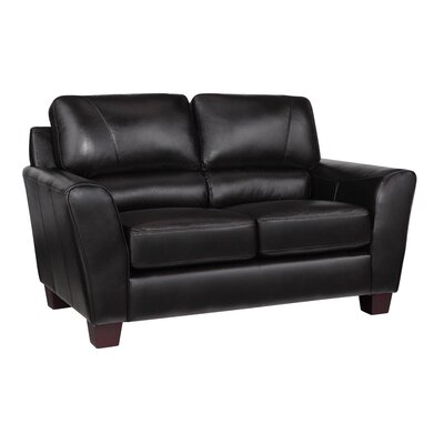 Woodcock Leather Loveseat