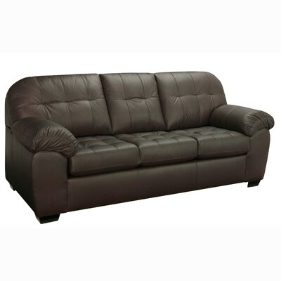 Suter Leather Sofa Upholstery: Brown