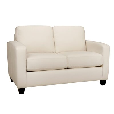 Woodby Leather Loveseat