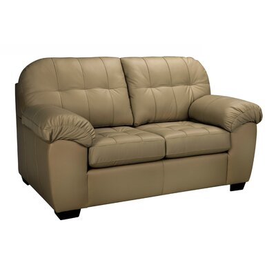 Winship Leather Loveseat Upholstery: Taupe