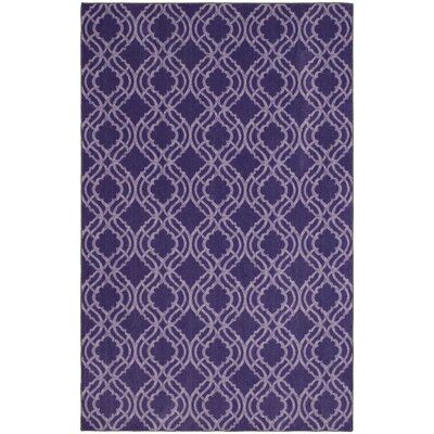Crase Platte Fret Purple Area Rug Rug Size: 5x8