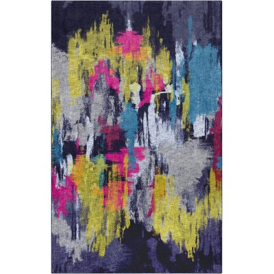 Crase Purple/Yellow Area Rug Rug Size: Rectangle 5 x 8