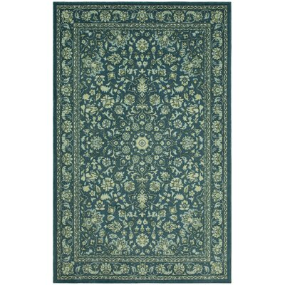 Lenora Teal Area Rug Rug Size: Rectangle 5 x 8