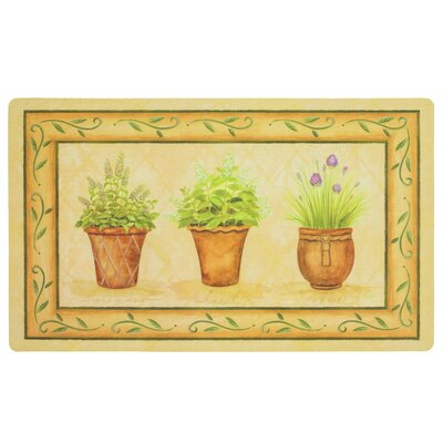 Hoeppner Potted Herb Garden Kitchen Mat