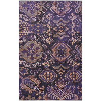 Lenora Purple Area Rug Rug Size: 5x8