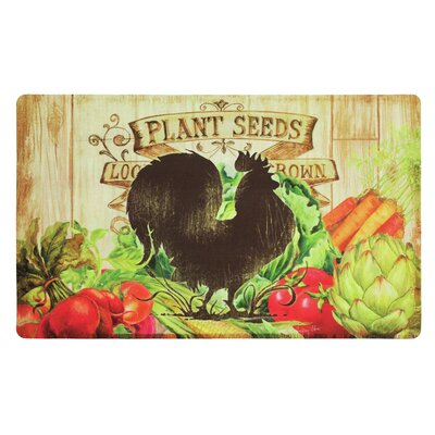Holcomb Farm Friends Rooster Kitchen Mat