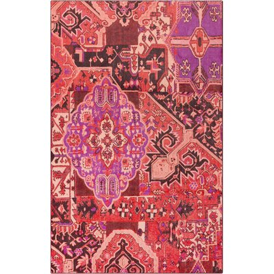 Lenora Patchwork Rustburn Red Area Rug Rug Size: 5x8