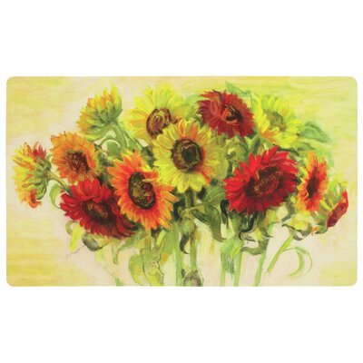 Celestiel Gathering Sunflowers Kitchen Mat
