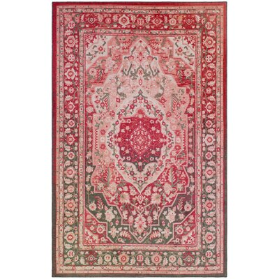 Blair Rose Red Area Rug Rug Size: 5 x 8