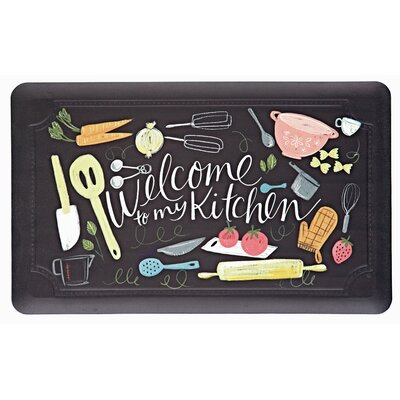 Celestine Welcome to My Scattered Kitchen Kitchen Mat
