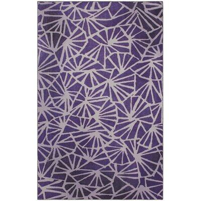 Crase Four Corners Eggplant Purple Area Rug Rug Size: 8x10