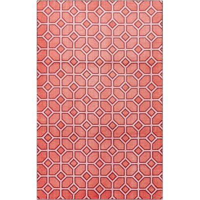 Crase Trellis Crimson Red Area Rug Rug Size: 8x10