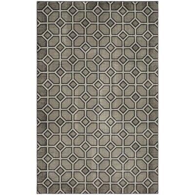 Nichole Trellis Graphite Gray Area Rug Rug Size: 5 x 8