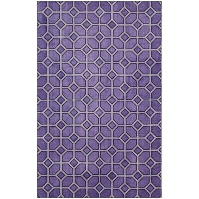 Crase Trellis Purple Area Rug Rug Size: 5x8