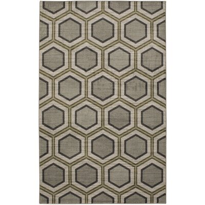 Honeycomb Graphite Gray Area Rug Rug Size: 5x8