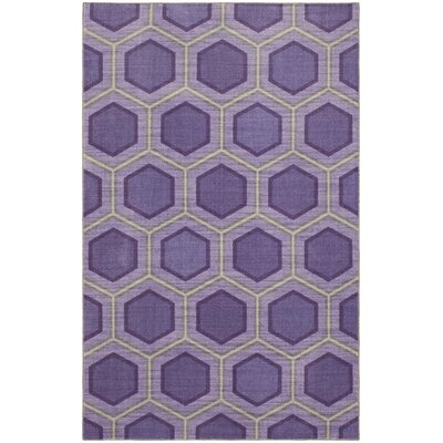 Honeycomb Purple Area Rug Rug Size: 8x10