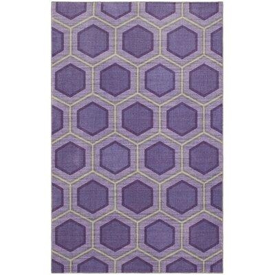 Honeycomb Purple Area Rug Rug Size: 8x10