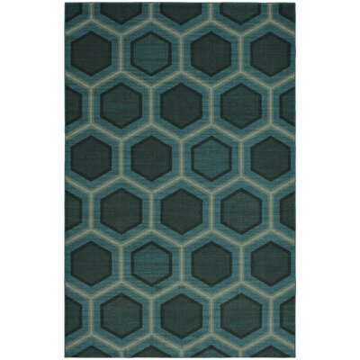 Honeycomb Blue Area Rug Rug Size: 8x10